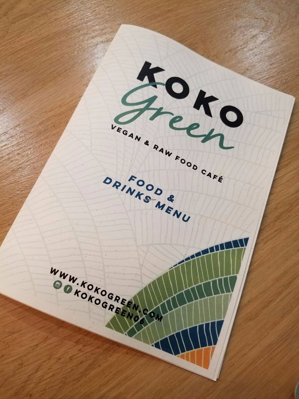 """Photo of KOKO Green  by <a href=""""/members/profile/KarimKanfoudi"""">KarimKanfoudi</a> <br/>Koko Green Vegan Menu <br/> June 24, 2016  - <a href='/contact/abuse/image/75042/155871'>Report</a>"""