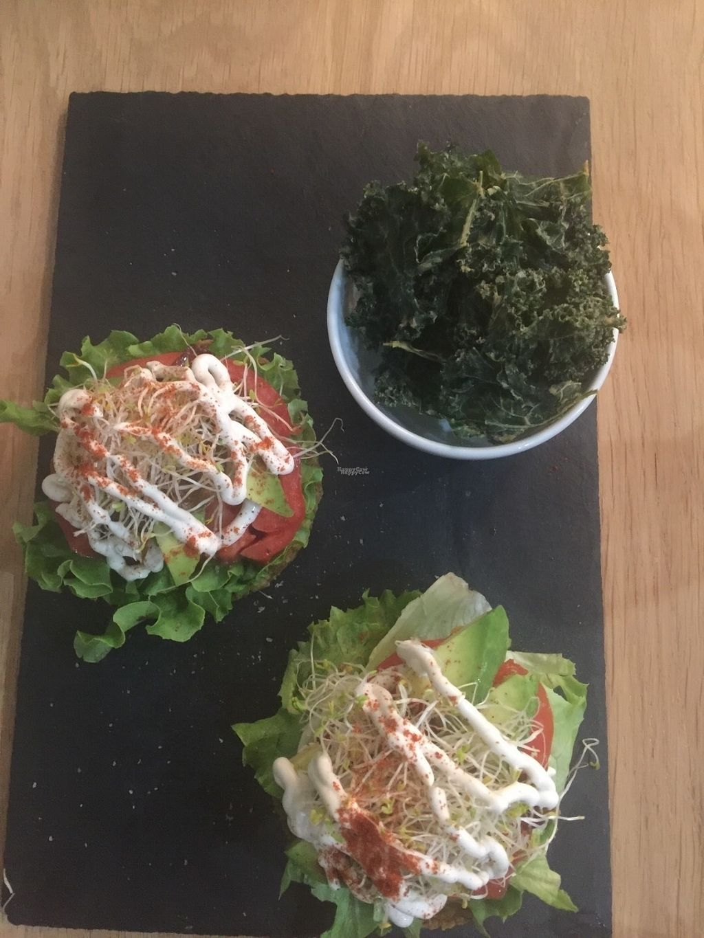 """Photo of KOKO Green  by <a href=""""/members/profile/FarleyD"""">FarleyD</a> <br/>Raw bagel + kale chips  <br/> September 9, 2016  - <a href='/contact/abuse/image/75042/174494'>Report</a>"""