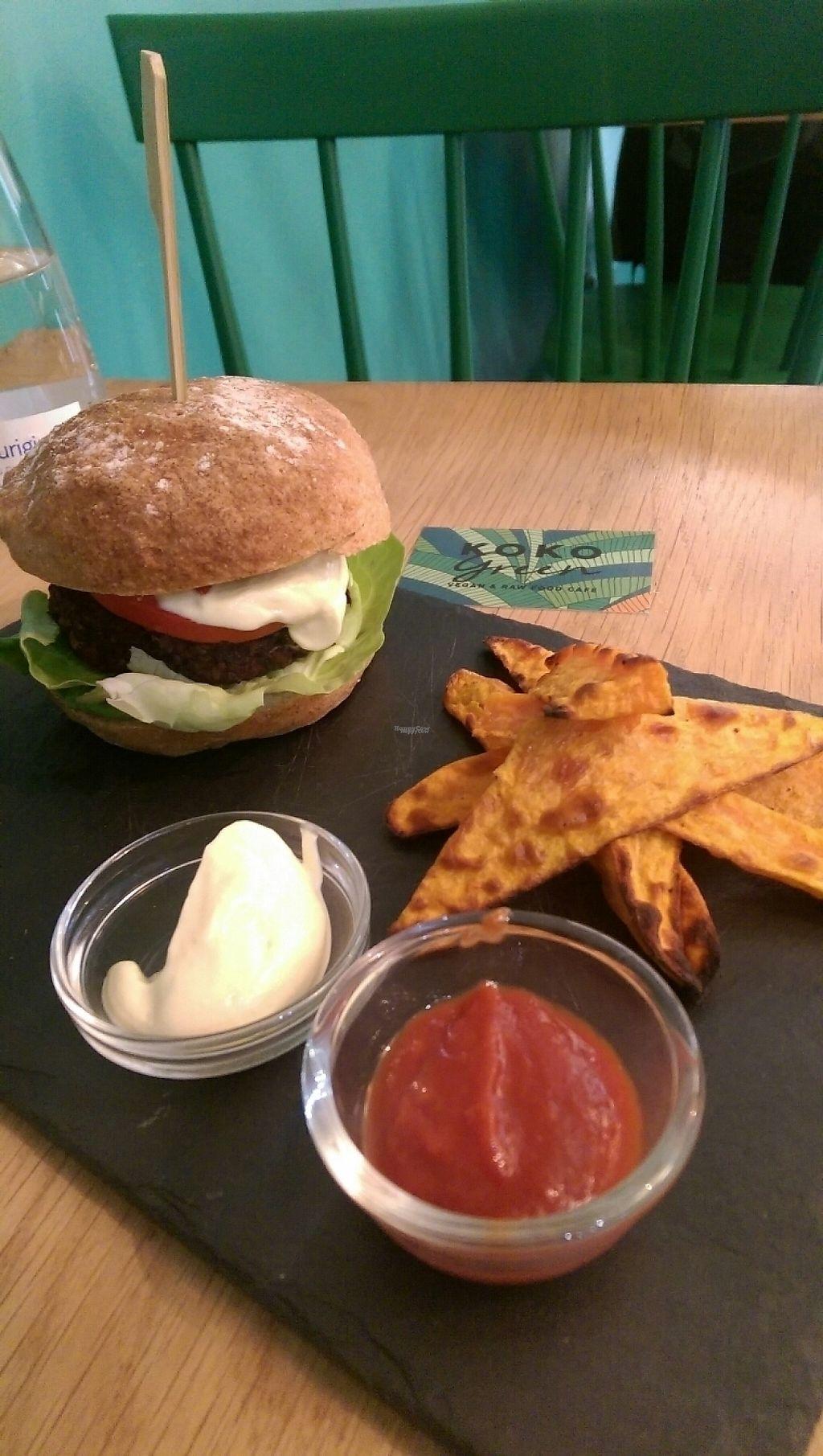 "Photo of KOKO Green  by <a href=""/members/profile/Melissaj1990"">Melissaj1990</a> <br/>vegan burger <br/> November 21, 2016  - <a href='/contact/abuse/image/75042/192893'>Report</a>"