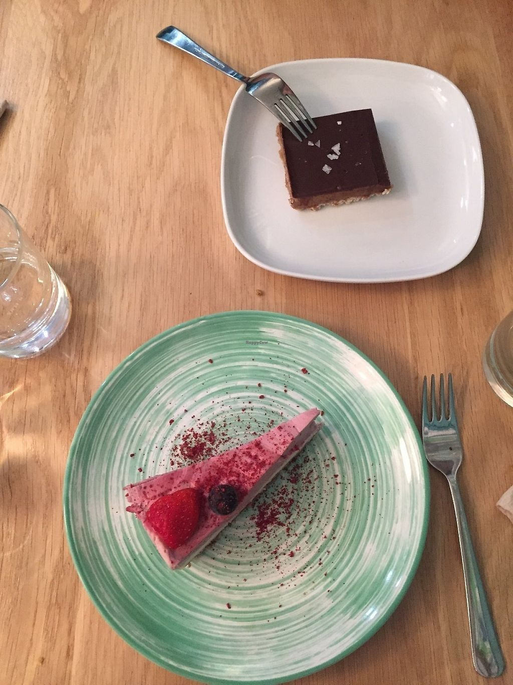 """Photo of KOKO Green  by <a href=""""/members/profile/MarieNourMargi"""">MarieNourMargi</a> <br/>Vegan cheesecake and a chocolate/caramel kind of cake <br/> May 21, 2017  - <a href='/contact/abuse/image/75042/261162'>Report</a>"""