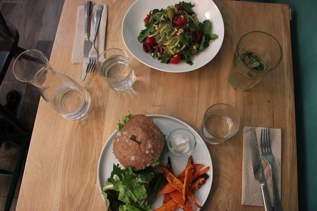 """Photo of KOKO Green  by <a href=""""/members/profile/MarieNourMargi"""">MarieNourMargi</a> <br/>Vegan burger/sweet potato fries and zucchini noodles <br/> May 21, 2017  - <a href='/contact/abuse/image/75042/261163'>Report</a>"""
