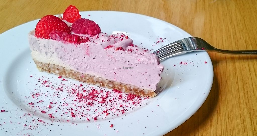 """Photo of KOKO Green  by <a href=""""/members/profile/loloford"""">loloford</a> <br/>Fantastic strawberries/raspberries raw cheesecake  <br/> June 2, 2017  - <a href='/contact/abuse/image/75042/265082'>Report</a>"""