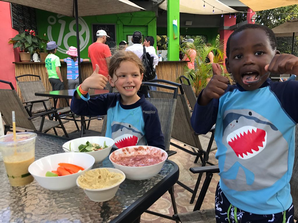 """Photo of Degree 18 Juice Bar  by <a href=""""/members/profile/Frankly%20vegan"""">Frankly vegan</a> <br/>my vegan 6 and 4 year old sons LOVED everything! <br/> February 20, 2017  - <a href='/contact/abuse/image/75056/228516'>Report</a>"""