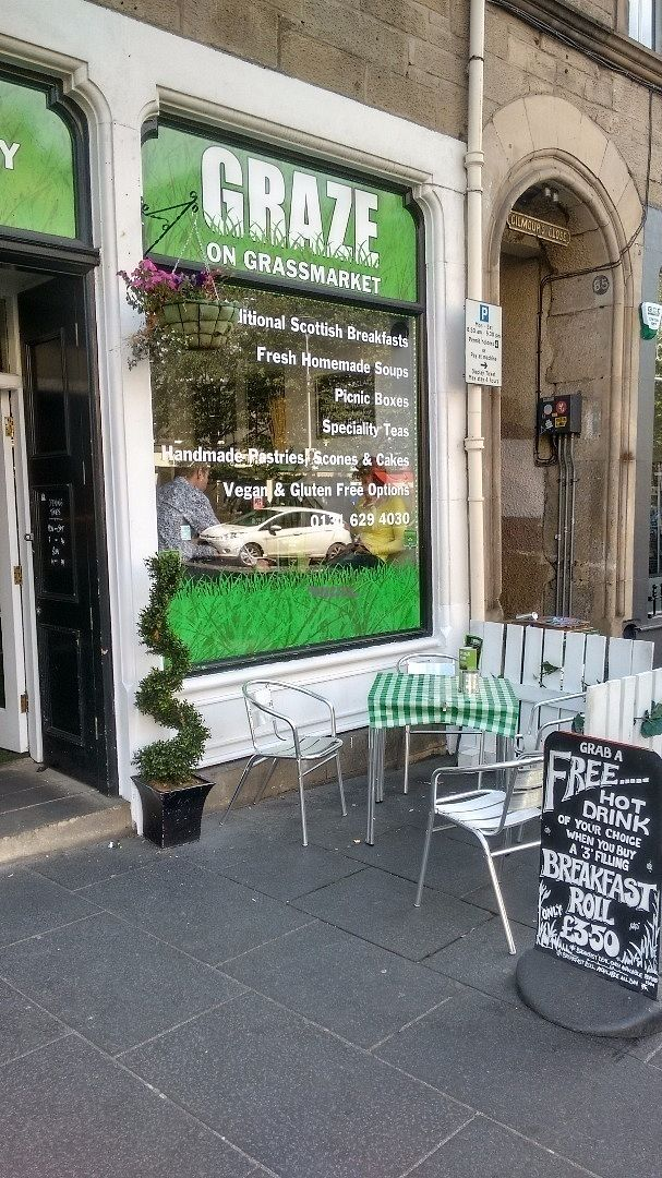"Photo of Graze on Grassmarket  by <a href=""/members/profile/craigmc"">craigmc</a> <br/>Vegan options <br/> August 30, 2016  - <a href='/contact/abuse/image/75059/172442'>Report</a>"