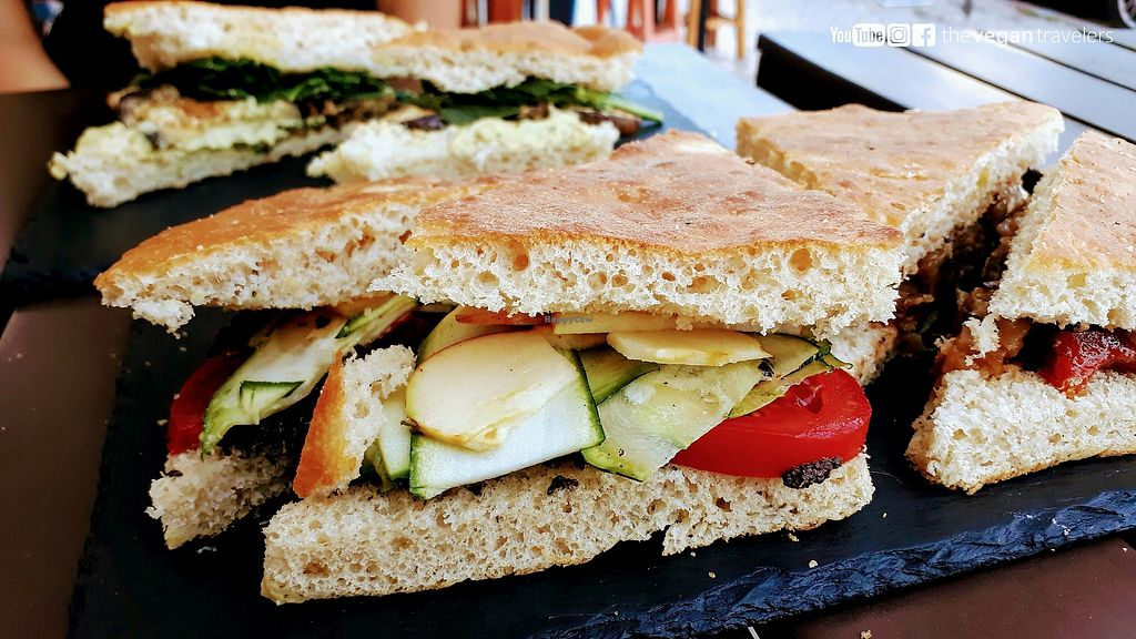 """Photo of Focaccia in Giro  by <a href=""""/members/profile/thevegantravelers"""">thevegantravelers</a> <br/>For more photos, information and a video please visit our vegan travel blog: www.the-vegan-travelers.com or follow us on Instagram/Youtube/Facebook: @thevegantravelers <br/> September 20, 2017  - <a href='/contact/abuse/image/75074/306550'>Report</a>"""