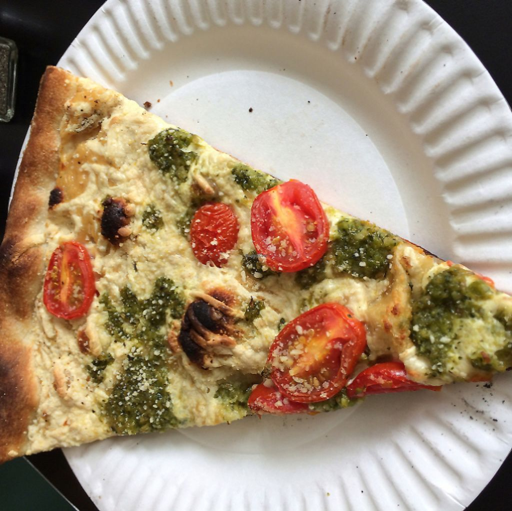 "Photo of Screamer's Pizzeria  by <a href=""/members/profile/veggiehobbit"">veggiehobbit</a> <br/>cherry/pesto slice <br/> June 28, 2016  - <a href='/contact/abuse/image/75081/212316'>Report</a>"