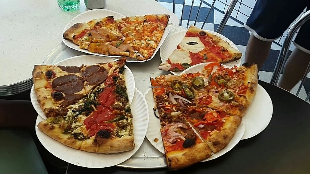 "Photo of Screamer's Pizzeria  by <a href=""/members/profile/unabashed"">unabashed</a> <br/>7 varieties in one shot.   <br/> May 21, 2017  - <a href='/contact/abuse/image/75081/261148'>Report</a>"