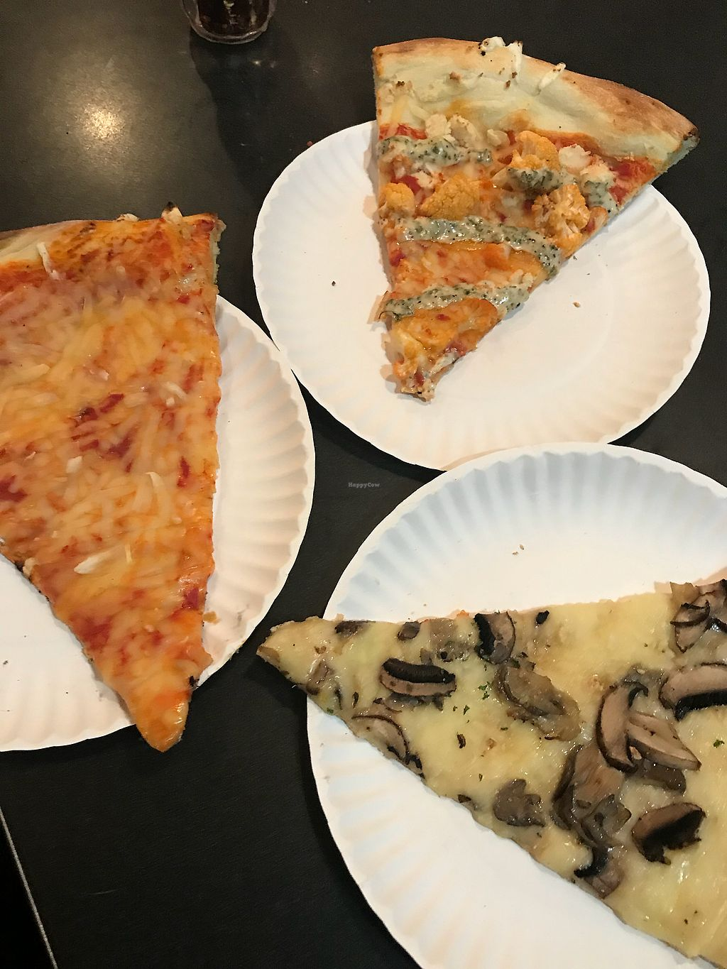 "Photo of Screamer's Pizzeria  by <a href=""/members/profile/KerryElise"">KerryElise</a> <br/>From left to right: cheese, buffalo cauliflower, white pie w/mushrooms  <br/> October 16, 2017  - <a href='/contact/abuse/image/75081/315835'>Report</a>"