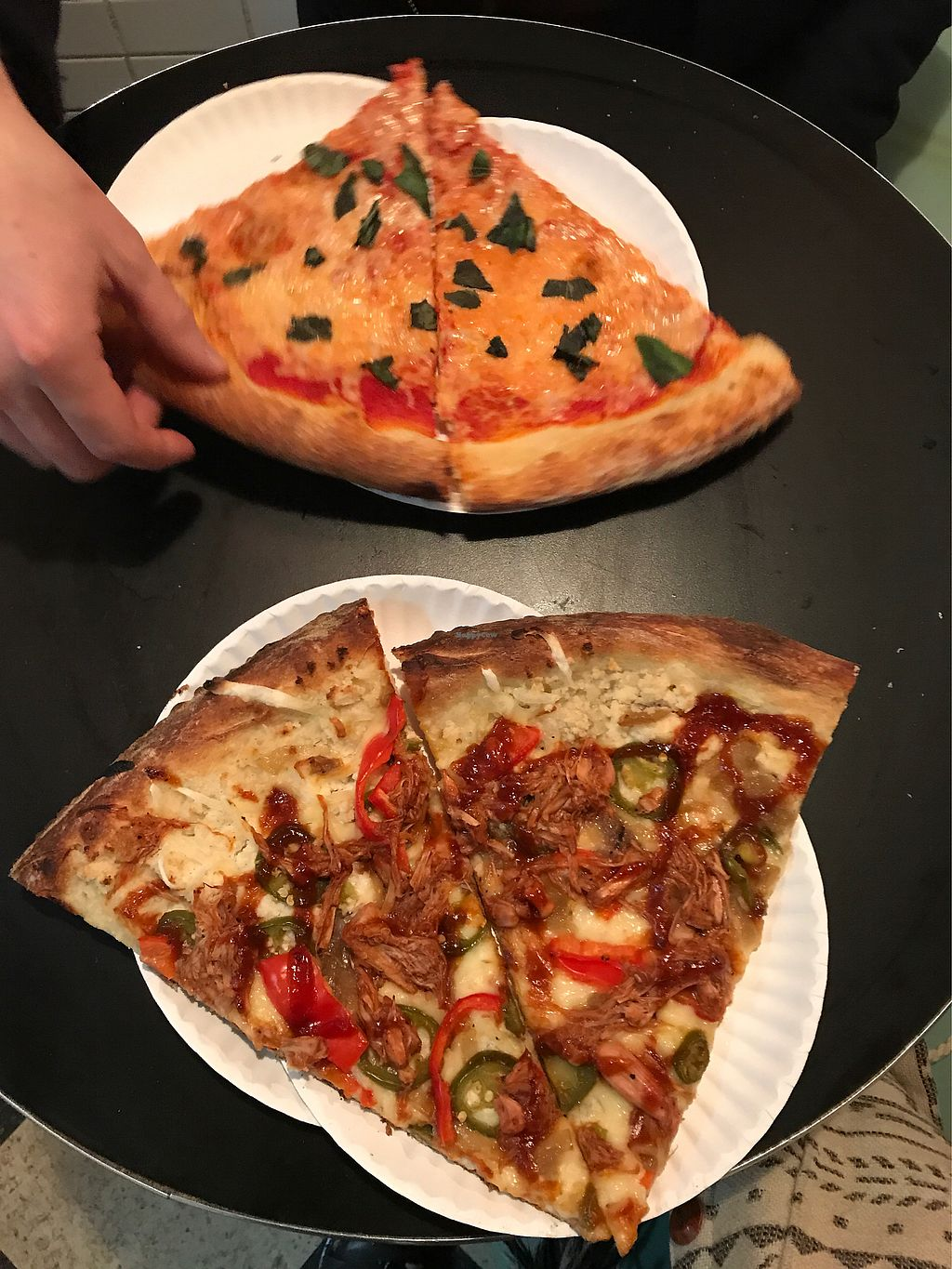 "Photo of Screamer's Pizzeria  by <a href=""/members/profile/theevetree"">theevetree</a> <br/>Margherita & BBQ jackfruit slices! <br/> January 18, 2018  - <a href='/contact/abuse/image/75081/348137'>Report</a>"