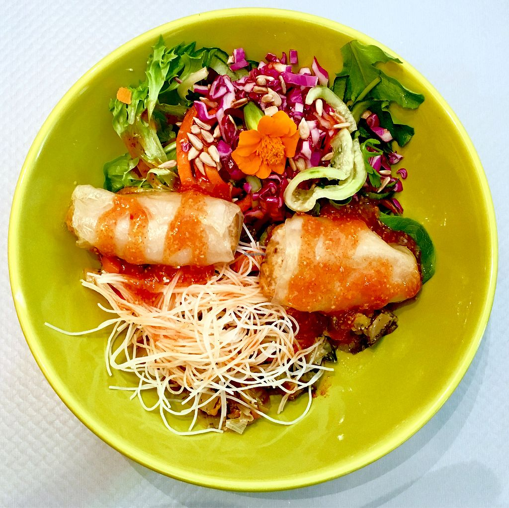 """Photo of Paprika Restaurant  by <a href=""""/members/profile/CoupleOfVegans"""">CoupleOfVegans</a> <br/>Spring rolls & vegetables & sweet sauce  <br/> September 29, 2017  - <a href='/contact/abuse/image/75113/309834'>Report</a>"""