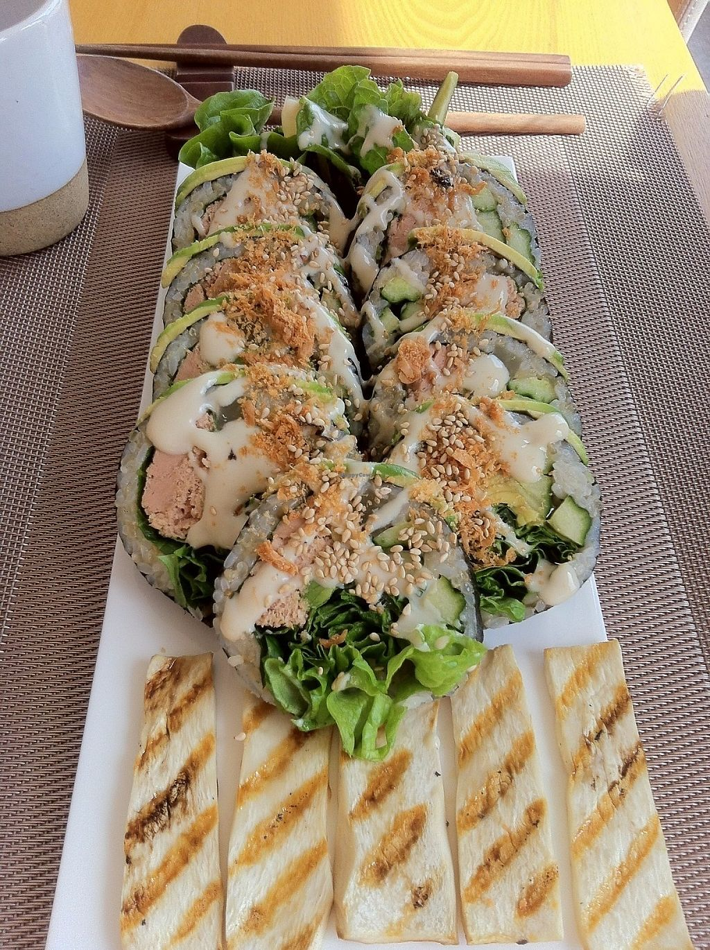 """Photo of Vegenarang  by <a href=""""/members/profile/sujata"""">sujata</a> <br/>Avocado roll <br/> June 3, 2017  - <a href='/contact/abuse/image/75142/265230'>Report</a>"""