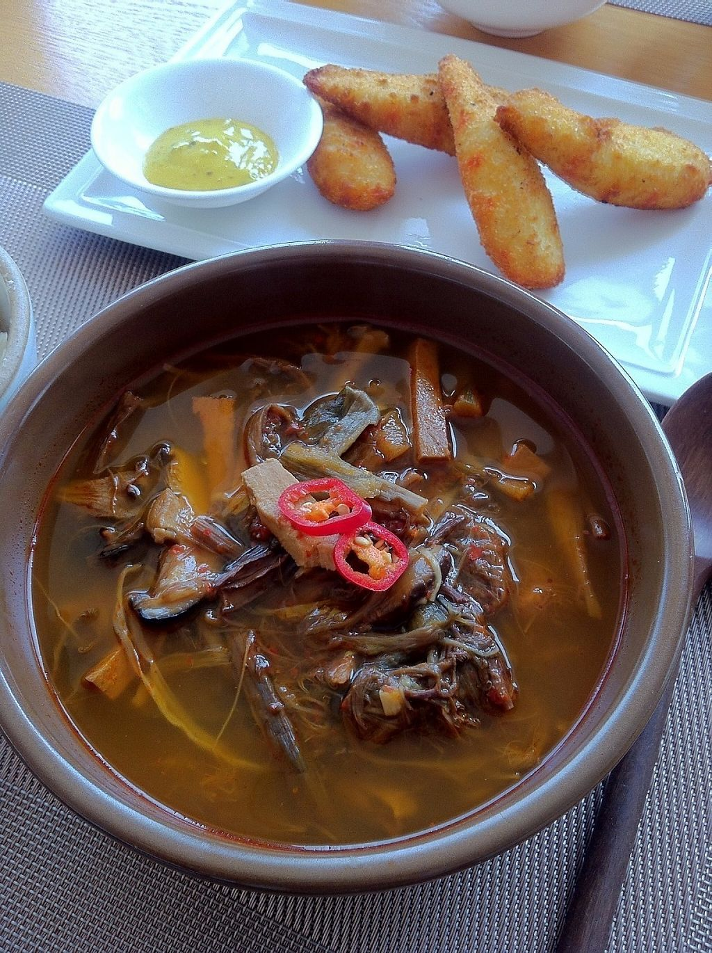 """Photo of Vegenarang  by <a href=""""/members/profile/sujata"""">sujata</a> <br/>Yukgaejang, Korean spicy soup  <br/> June 3, 2017  - <a href='/contact/abuse/image/75142/265231'>Report</a>"""