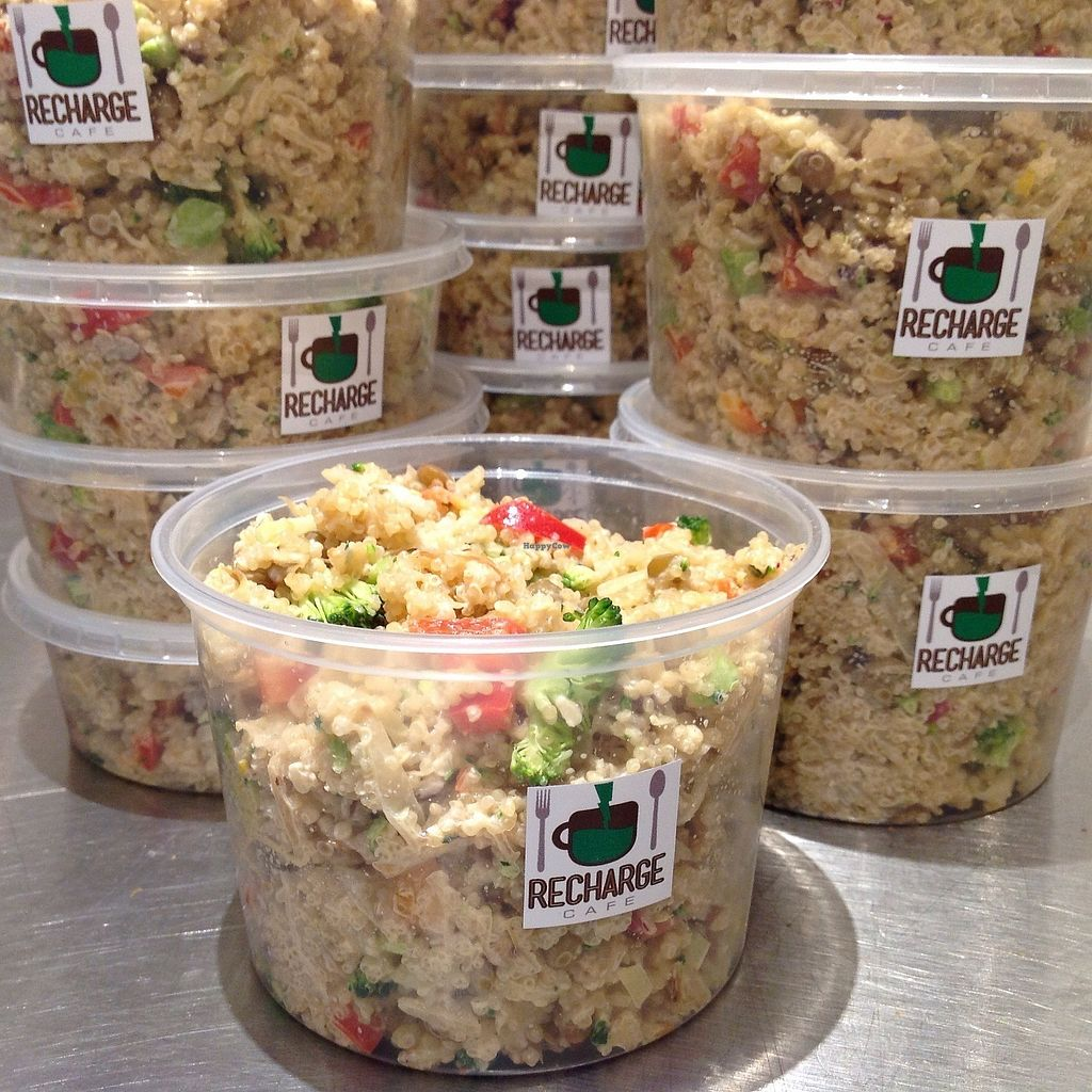 """Photo of Recharge Cafe  by <a href=""""/members/profile/GregoriousQ"""">GregoriousQ</a> <br/>Quinoa Vegetable Salad (16 oz) <br/> January 5, 2018  - <a href='/contact/abuse/image/75145/343085'>Report</a>"""