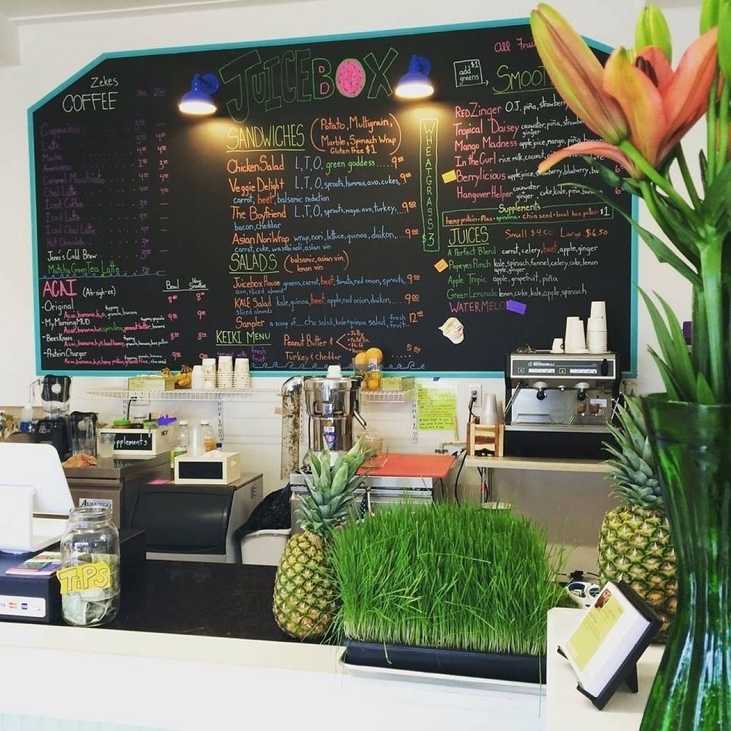 """Photo of Juicebox  by <a href=""""/members/profile/JuiceboxRehoboth"""">JuiceboxRehoboth</a> <br/>Counter and menu <br/> November 8, 2016  - <a href='/contact/abuse/image/75155/187290'>Report</a>"""