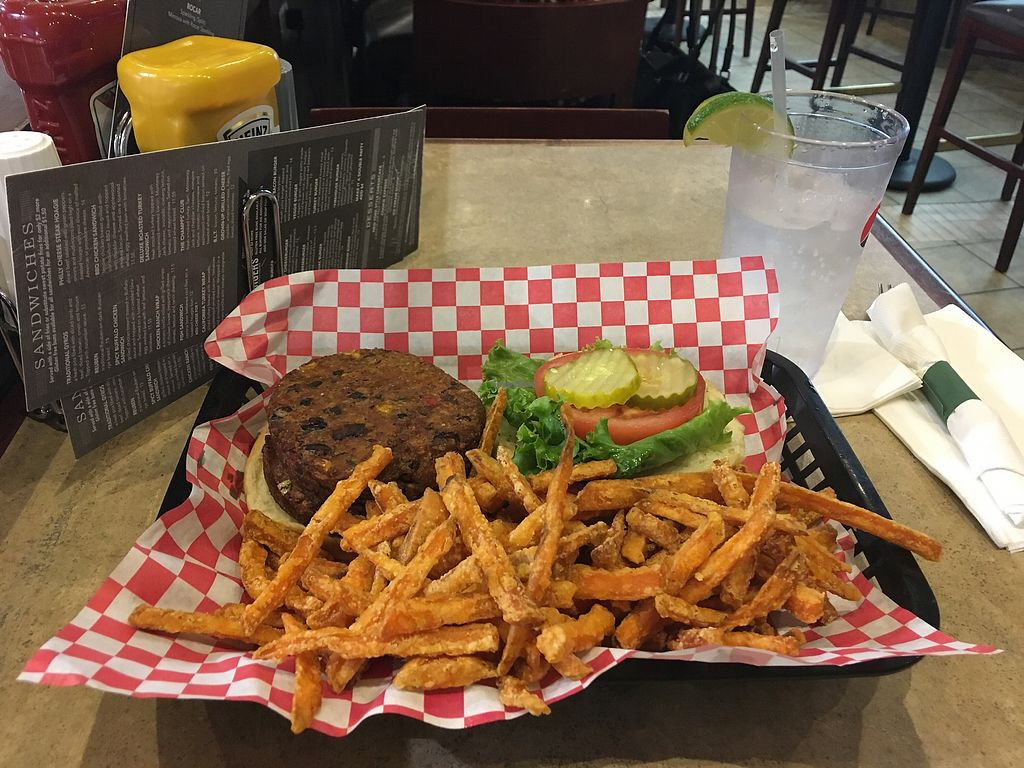 """Photo of Champps  by <a href=""""/members/profile/rborquez"""">rborquez</a> <br/>Double Veggie Burger <br/> August 10, 2017  - <a href='/contact/abuse/image/75169/291268'>Report</a>"""