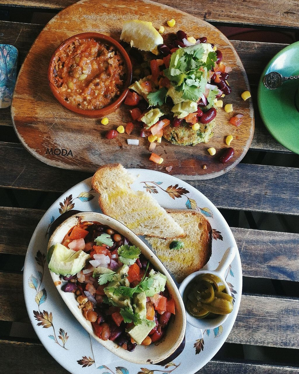 """Photo of Grace  by <a href=""""/members/profile/SigourneyPatterson"""">SigourneyPatterson</a> <br/>Top: Zucchini Fritters. Bottom: Mexican baked beans <br/> January 3, 2018  - <a href='/contact/abuse/image/75184/342394'>Report</a>"""