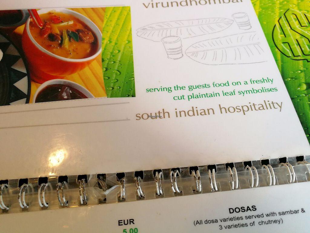 "Photo of Saravanaa Bhavan  by <a href=""/members/profile/Gudrun"">Gudrun</a> <br/>The menu <br/> November 5, 2017  - <a href='/contact/abuse/image/75244/322119'>Report</a>"