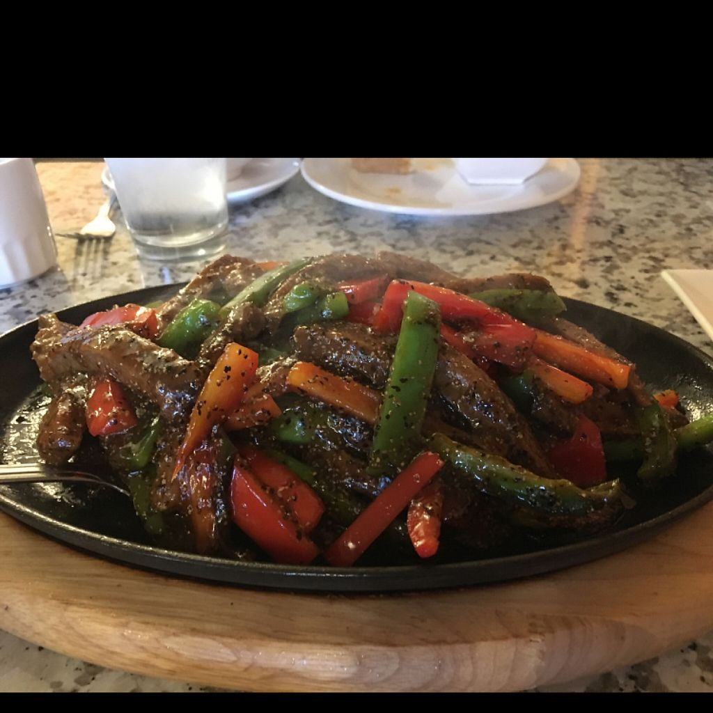 """Photo of Yuan Su Vegetarian  by <a href=""""/members/profile/Confetta"""">Confetta</a> <br/>Sizzling Vegan Beef Black Pepper Sauce <br/> March 19, 2017  - <a href='/contact/abuse/image/75258/238174'>Report</a>"""