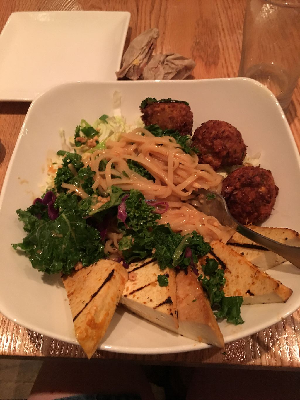 """Photo of Pure Kitchen - Elgin St  by <a href=""""/members/profile/annieflannery"""">annieflannery</a> <br/>""""Fantastic"""" bowl with an order of falafels!  <br/> August 17, 2017  - <a href='/contact/abuse/image/75281/293674'>Report</a>"""