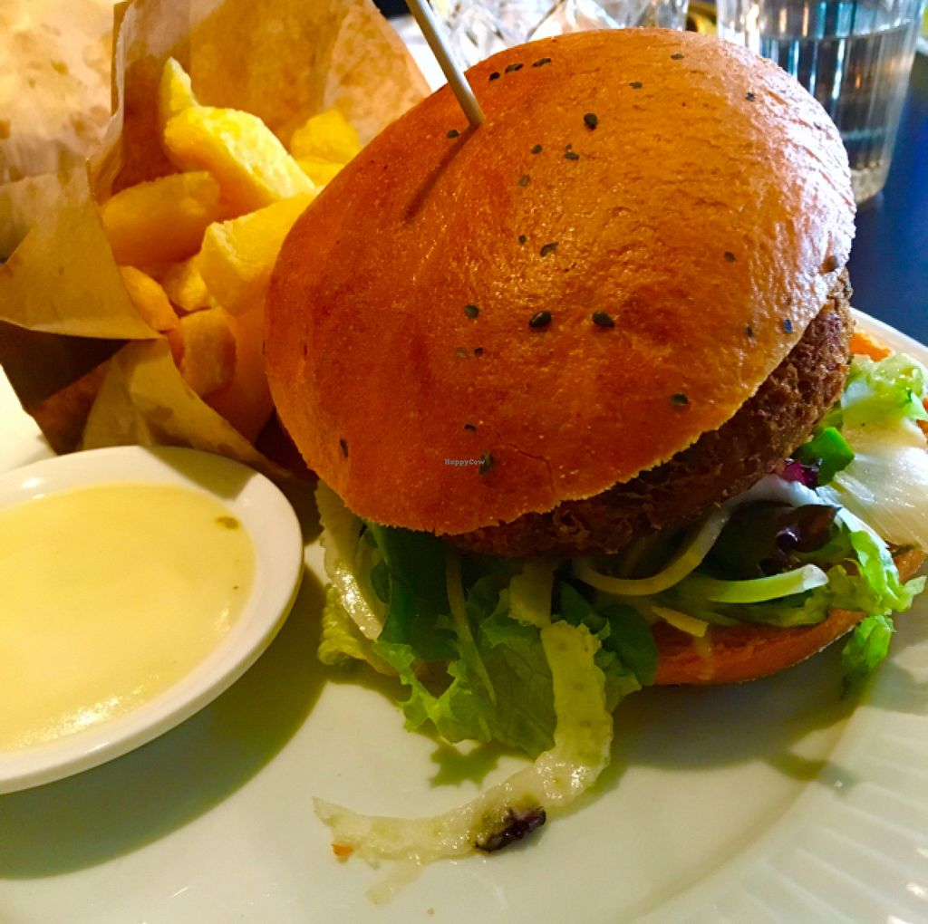 "Photo of CLOSED: Bar James  by <a href=""/members/profile/SonicYouth"">SonicYouth</a> <br/>The vegan burger.  <br/> July 20, 2016  - <a href='/contact/abuse/image/75285/161189'>Report</a>"