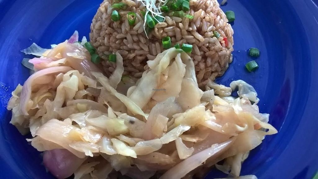 """Photo of La Familia Groen  by <a href=""""/members/profile/pamlovesyams"""">pamlovesyams</a> <br/>Segundo ; chaufa con arrimando de col  Entrée: fried rice with cabbage <br/> July 14, 2016  - <a href='/contact/abuse/image/75297/159690'>Report</a>"""