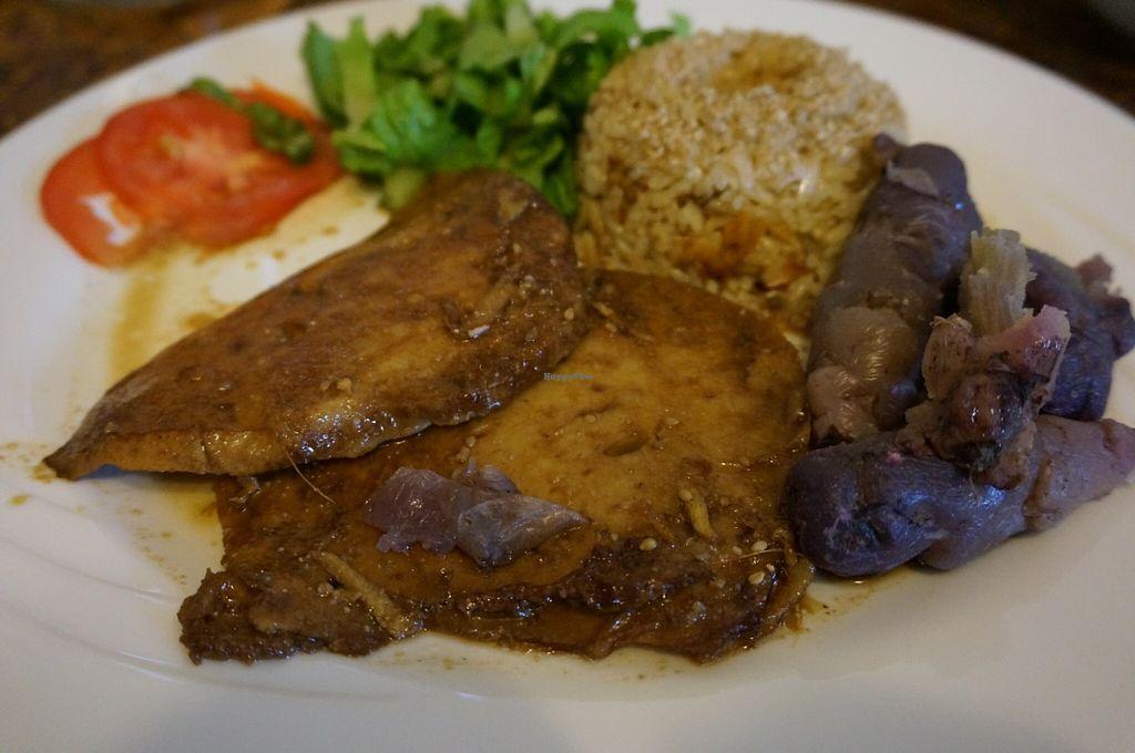 "Photo of La Casa de Bea  by <a href=""/members/profile/Ricardo"">Ricardo</a> <br/>Seitan steak.  <br/> June 18, 2016  - <a href='/contact/abuse/image/75298/154709'>Report</a>"