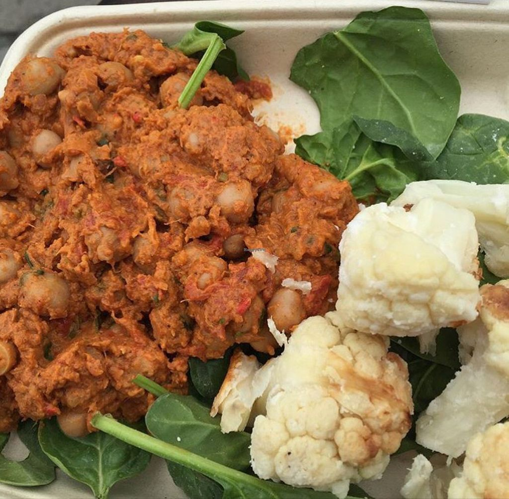 """Photo of The Naked Deli - Heaton  by <a href=""""/members/profile/SaraFitz"""">SaraFitz</a> <br/>chana masala with coconut cauliflower  <br/> June 20, 2016  - <a href='/contact/abuse/image/75328/155194'>Report</a>"""