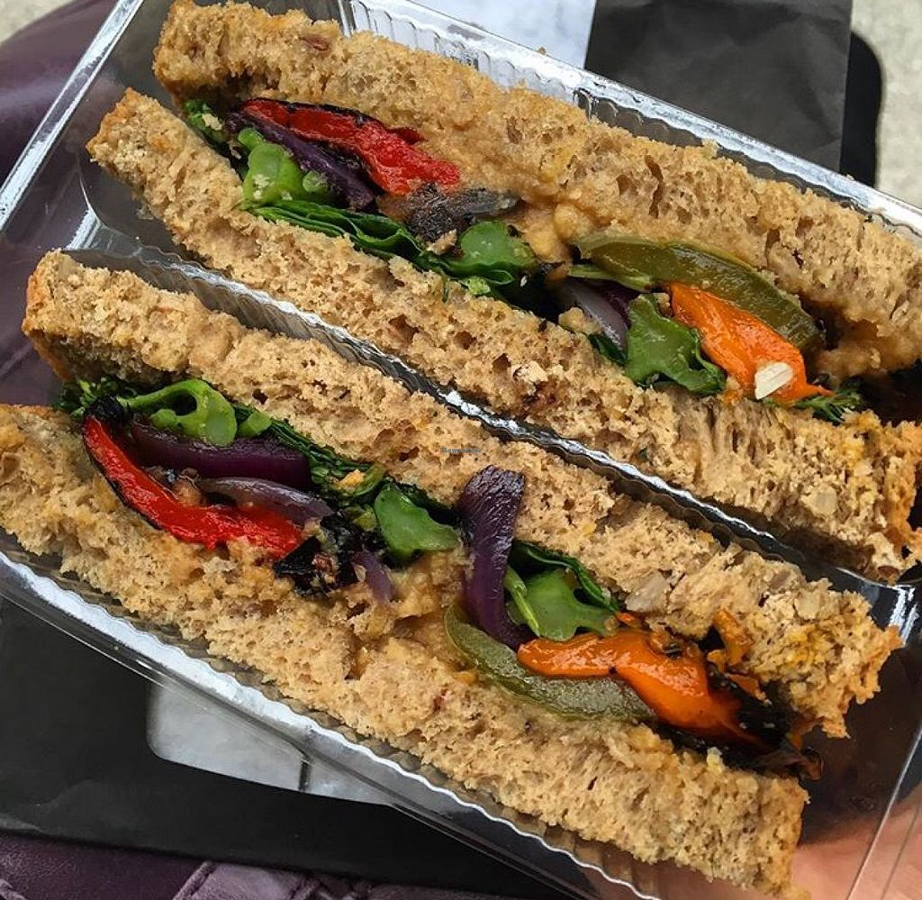 """Photo of The Naked Deli - Heaton  by <a href=""""/members/profile/SaraFitz"""">SaraFitz</a> <br/>chargrilled vegetable sandwich with hummus  <br/> June 20, 2016  - <a href='/contact/abuse/image/75328/155195'>Report</a>"""