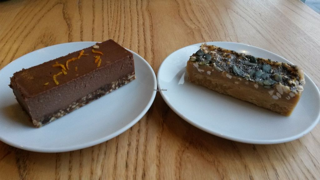 """Photo of The Naked Deli - Heaton  by <a href=""""/members/profile/deadpledge"""">deadpledge</a> <br/>Chocolate orange cheesecake and nut fudge and seed cake <br/> January 5, 2018  - <a href='/contact/abuse/image/75328/343170'>Report</a>"""