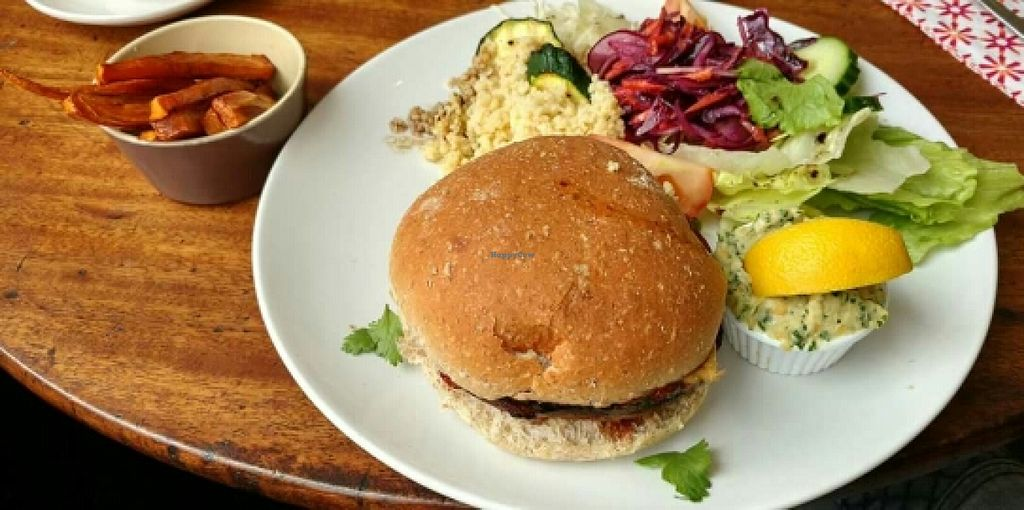 """Photo of Treasure & Relish  by <a href=""""/members/profile/PointsOfEllie"""">PointsOfEllie</a> <br/>Mushroom burger <br/> July 4, 2016  - <a href='/contact/abuse/image/75341/157737'>Report</a>"""