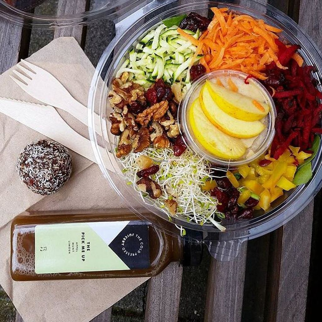 """Photo of The Cold Pressed Juicery - Prinsengracht  by <a href=""""/members/profile/community"""">community</a> <br/>Asian veggie, nut and fruit bowl  <br/> June 24, 2016  - <a href='/contact/abuse/image/75355/155822'>Report</a>"""