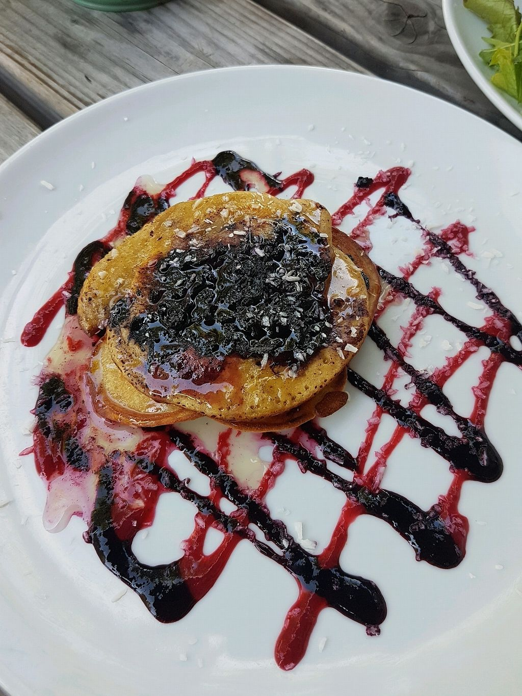 """Photo of GYS  by <a href=""""/members/profile/Zrinka"""">Zrinka</a> <br/>vegan pancakes met blueberry <br/> August 27, 2017  - <a href='/contact/abuse/image/75386/297835'>Report</a>"""