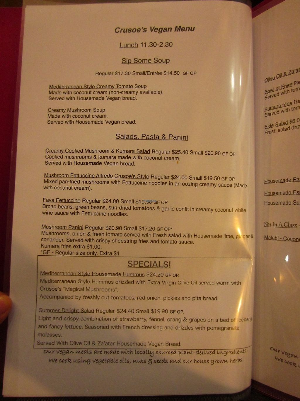 "Photo of Crusoe's Cafe & Bar  by <a href=""/members/profile/Dharini"">Dharini</a> <br/>menu <br/> March 7, 2017  - <a href='/contact/abuse/image/75391/233706'>Report</a>"