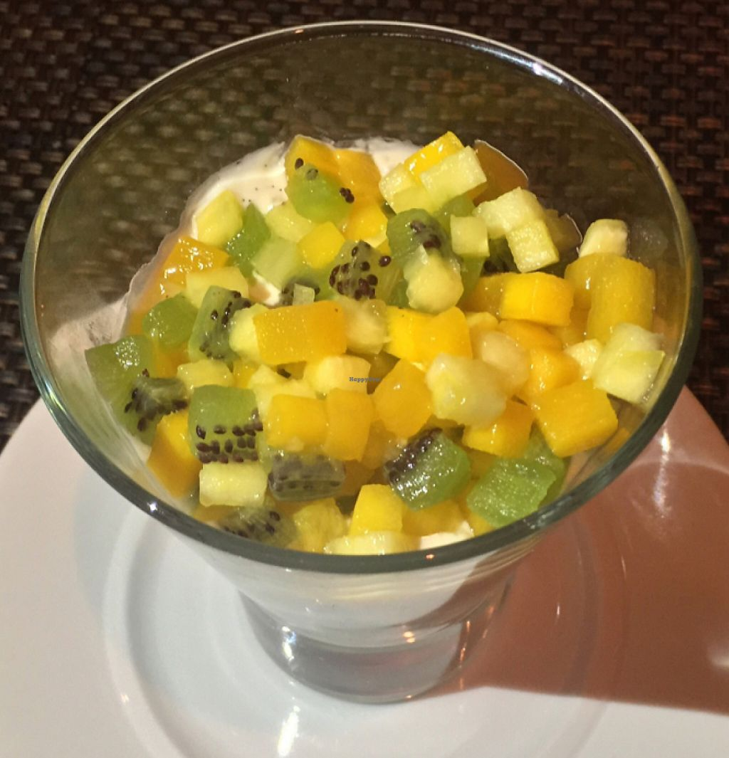 """Photo of Wynn Hotel - Allegro  by <a href=""""/members/profile/VeganCookieLover"""">VeganCookieLover</a> <br/>Tapioca pudding topped with finely diced fruit <br/> June 20, 2016  - <a href='/contact/abuse/image/75394/207724'>Report</a>"""