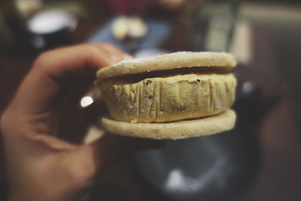 "Photo of Two Chaps  by <a href=""/members/profile/chelseyprior"">chelseyprior</a> <br/>Vegan ice-cream sandwich - Dinner at Two Chaps <br/> October 10, 2016  - <a href='/contact/abuse/image/75397/181105'>Report</a>"