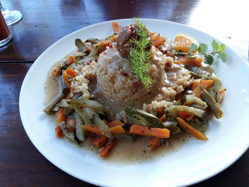 """Photo of O Esconderijo  by <a href=""""/members/profile/drsnuggles79"""">drsnuggles79</a> <br/>Rice with sesame ball and vegetabels <br/> June 21, 2016  - <a href='/contact/abuse/image/75406/155274'>Report</a>"""