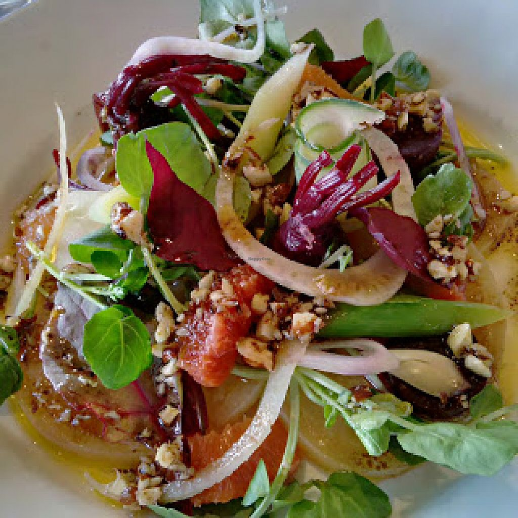 """Photo of The Aspinall Arms  by <a href=""""/members/profile/Veganolive1"""">Veganolive1</a> <br/>Beetroot salad with walnuts <br/> June 20, 2016  - <a href='/contact/abuse/image/75412/155151'>Report</a>"""