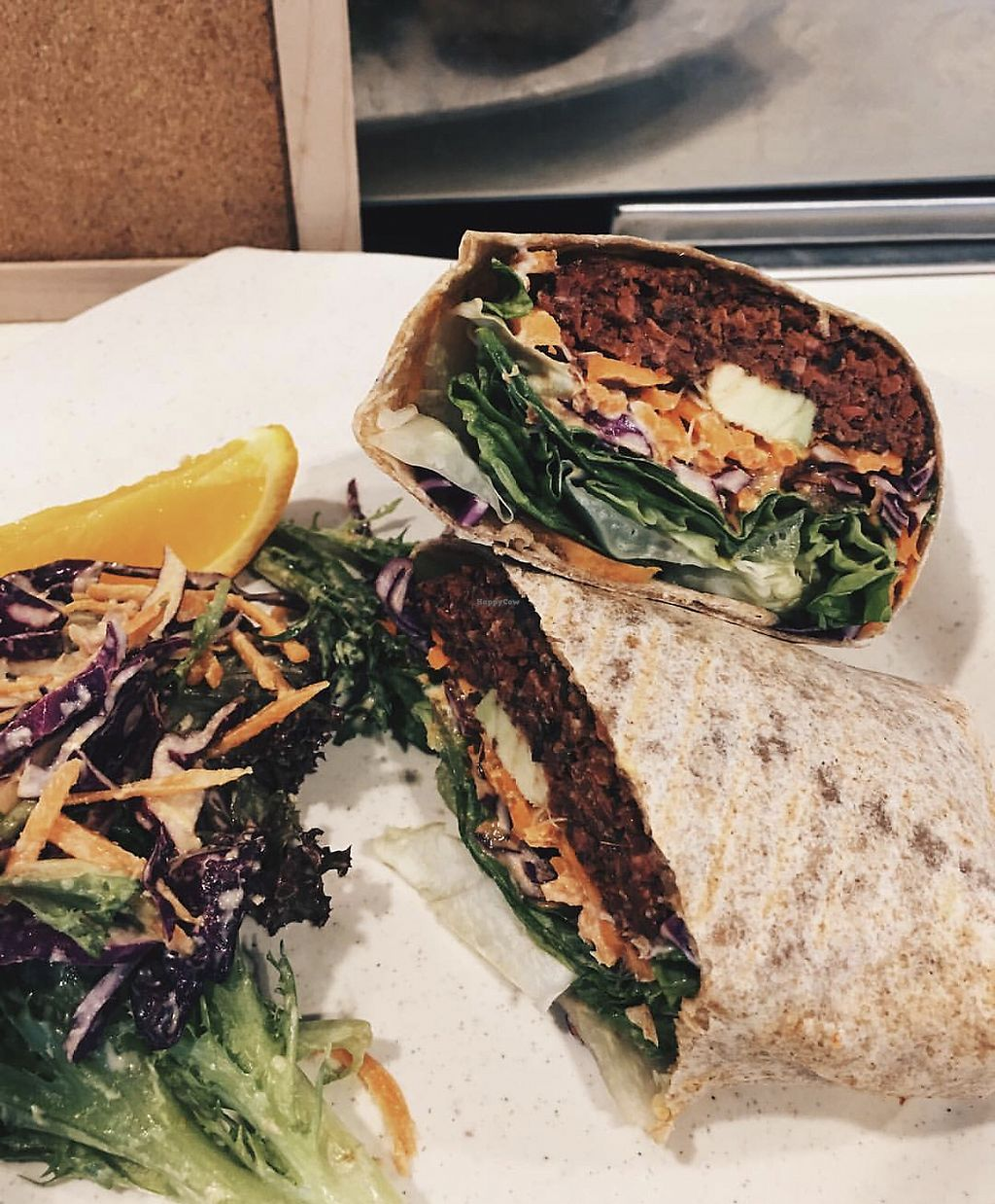 "Photo of The Wholefood Kitchen  by <a href=""/members/profile/CherylQuincy"">CherylQuincy</a> <br/>Hard-to-BEET Borscht Chickpea Patties with Avocado, wrapped in wholewheat wrap <br/> January 21, 2018  - <a href='/contact/abuse/image/75426/349159'>Report</a>"