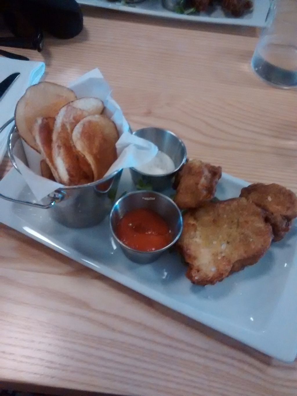 """Photo of Lincoln Street Food  by <a href=""""/members/profile/QuothTheRaven"""">QuothTheRaven</a> <br/>Vegan fish and chips  <br/> August 6, 2016  - <a href='/contact/abuse/image/75443/166309'>Report</a>"""