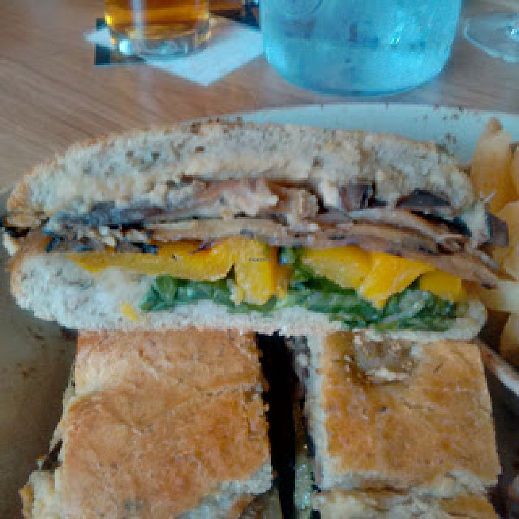 """Photo of Banyan Bar & Kitchen  by <a href=""""/members/profile/Veganolive1"""">Veganolive1</a> <br/>Mediterranean vegetable rosemary focaccia sandwich  <br/> June 21, 2016  - <a href='/contact/abuse/image/75445/155370'>Report</a>"""