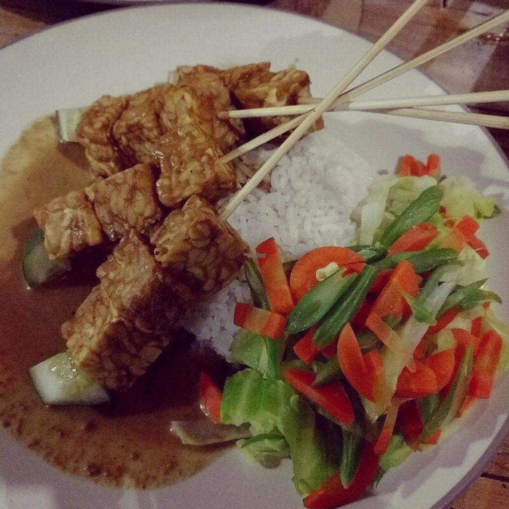 """Photo of Bali Maitreya Cafe  by <a href=""""/members/profile/Sophie"""">Sophie</a> <br/>tempe satay <br/> December 3, 2016  - <a href='/contact/abuse/image/75459/196960'>Report</a>"""