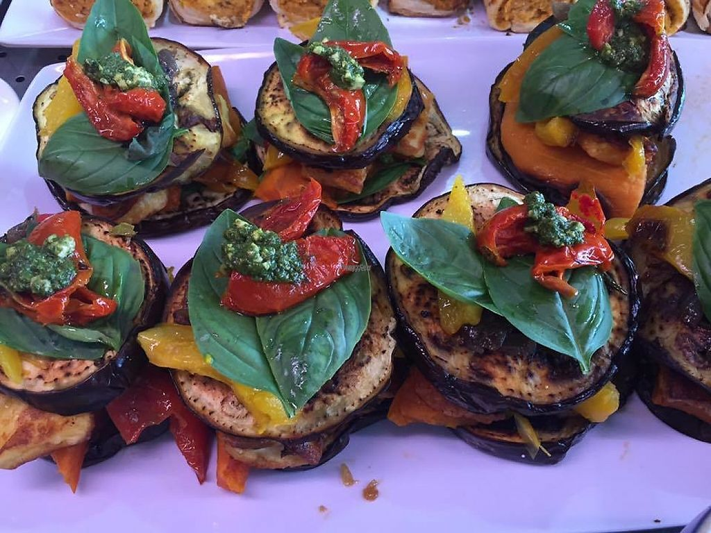 """Photo of Sasha's Fine Food   by <a href=""""/members/profile/community"""">community</a> <br/>Eggplant Stack <br/> March 30, 2017  - <a href='/contact/abuse/image/75484/242584'>Report</a>"""