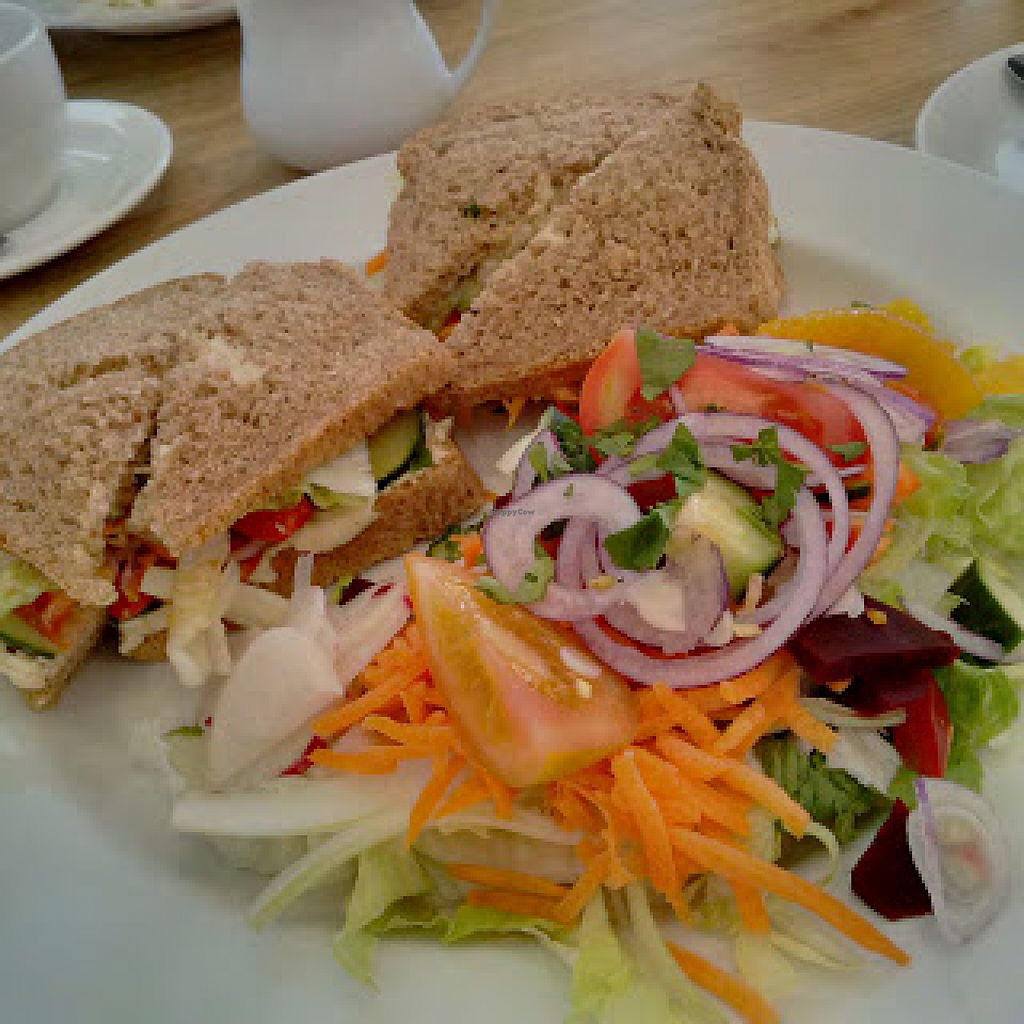 """Photo of The Sanctuary of Healing  by <a href=""""/members/profile/Veganolive1"""">Veganolive1</a> <br/>Avocado & Houmous Sandwich <br/> June 22, 2016  - <a href='/contact/abuse/image/75487/155536'>Report</a>"""
