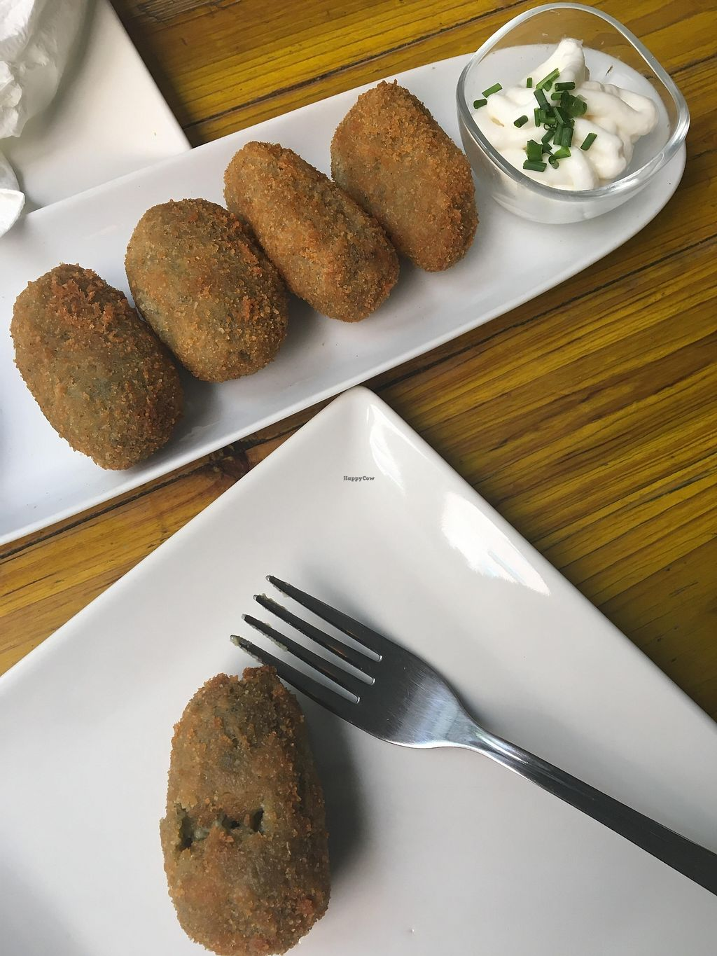 """Photo of Pura Vida Vegan Bar  by <a href=""""/members/profile/sian_ractliffe"""">sian_ractliffe</a> <br/>Delicious croquettes - 6 units for 6.95 <br/> March 13, 2018  - <a href='/contact/abuse/image/75544/370251'>Report</a>"""