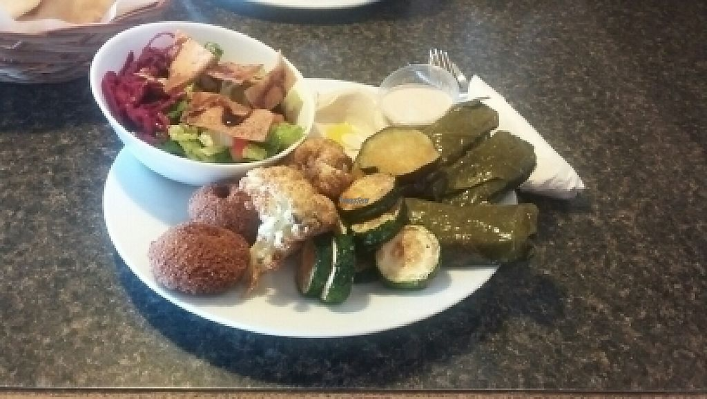 """Photo of Arabesque Cafe  by <a href=""""/members/profile/plant_based_princess"""">plant_based_princess</a> <br/>Vegetarian Platter <br/> February 22, 2017  - <a href='/contact/abuse/image/75558/229064'>Report</a>"""