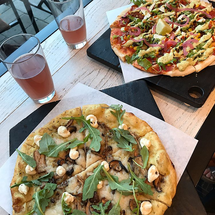 "Photo of Virtuous Pie - Main St  by <a href=""/members/profile/Morganlea"">Morganlea</a> <br/>Los tacos, Superfunghi, and charcoal blackberry kombucha <br/> July 19, 2017  - <a href='/contact/abuse/image/75580/282025'>Report</a>"