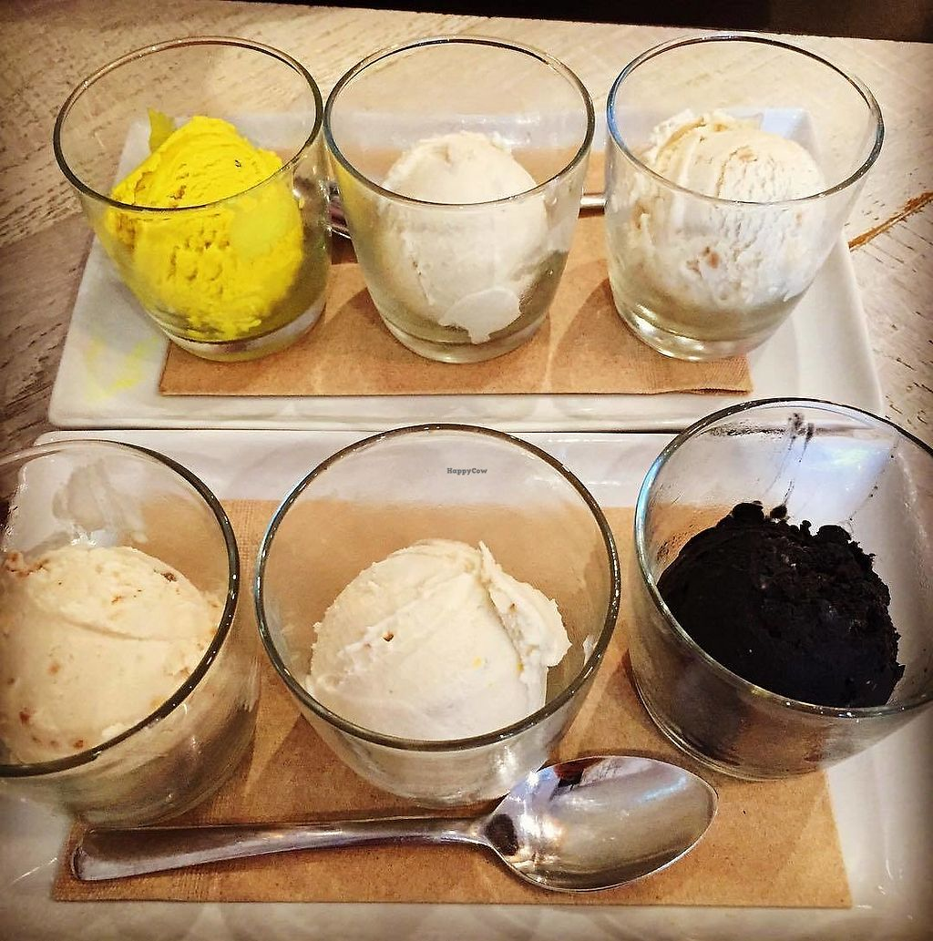 "Photo of Virtuous Pie - Main St  by <a href=""/members/profile/LindseyElizabeth"">LindseyElizabeth</a> <br/>Vegan ice cream flights, a happy hour special! <br/> August 29, 2017  - <a href='/contact/abuse/image/75580/298827'>Report</a>"
