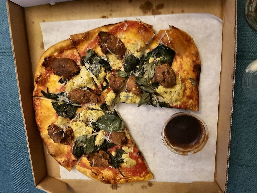 "Photo of Virtuous Pie - Main St  by <a href=""/members/profile/Tovah"">Tovah</a> <br/>Meatball and Chevre with maple BBQ <br/> August 28, 2017  - <a href='/contact/abuse/image/75580/298852'>Report</a>"
