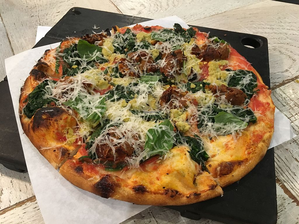 "Photo of Virtuous Pie - Main St  by <a href=""/members/profile/Siup"">Siup</a> <br/>Meatballs and chèvre pizza  <br/> December 12, 2017  - <a href='/contact/abuse/image/75580/334842'>Report</a>"