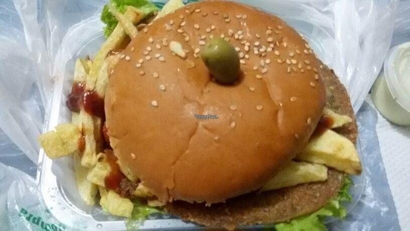 "Photo of Fast & Vegan  by <a href=""/members/profile/Marionvegan"">Marionvegan</a> <br/>Milanesa de soja con chorrellana <br/> September 1, 2016  - <a href='/contact/abuse/image/75590/172758'>Report</a>"